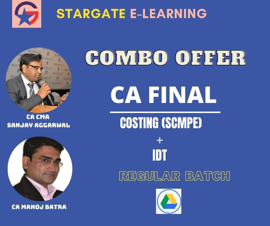 CA FINAL COSTING & IDT - COMBO OFFER (Google Drive)