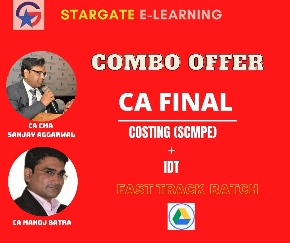 CA FINAL COSTING & IDT FAST TRACK - COMBO OFFER(Google Drive)