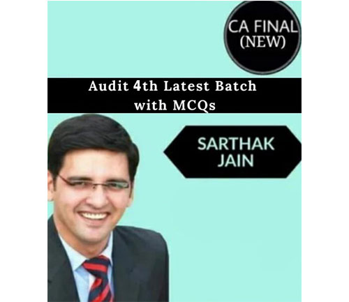 CA Final Audit 4th Batch with MCQs Full Course By Sarthak Jain (New) - Pen Drive