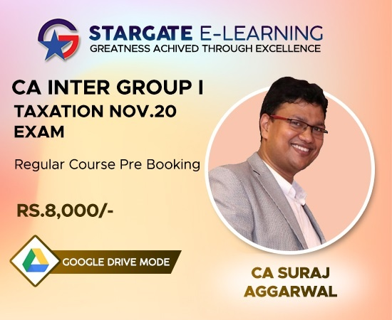 Prebooking CA INTER Group I Taxation Nov 20 by CA Suraj Aggarwal - Google Drive