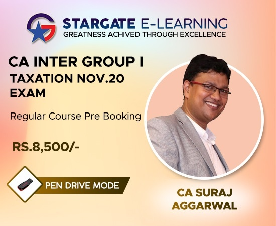 Prebooking CA INTER Group I Taxation Nov 20 by CA Suraj Aggarwal - Pen Drive