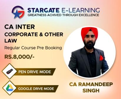 Prebooking CA Inter Corporate & Other Law by CA Ramandeep Singh - Regular