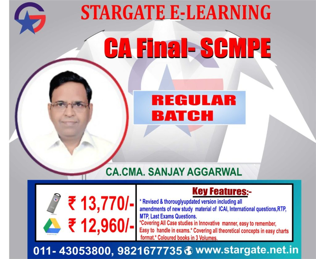 CA Final Costing Pendrive Classes (SCMPE) by Sanjay Aggarwal Sir