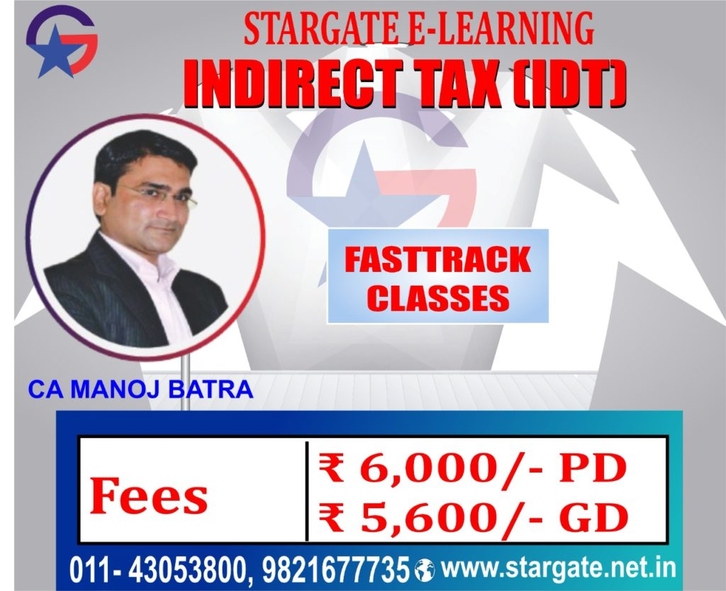 CA Final IDT Fasttrack Classes by CA Manoj Batra Sir | IDT Google Drive & Pen Drive