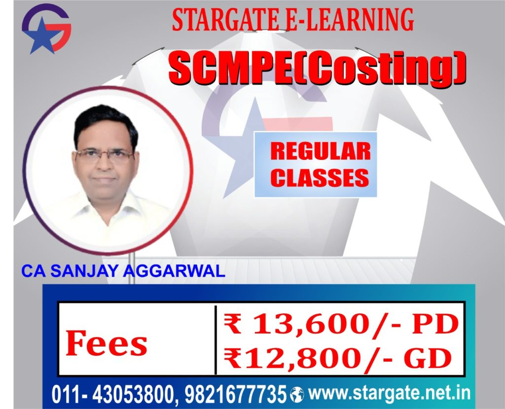 CA Final Costing Classes (SCMPE) by Sanjay Aggarwal Sir Pen Drive & Google Drive