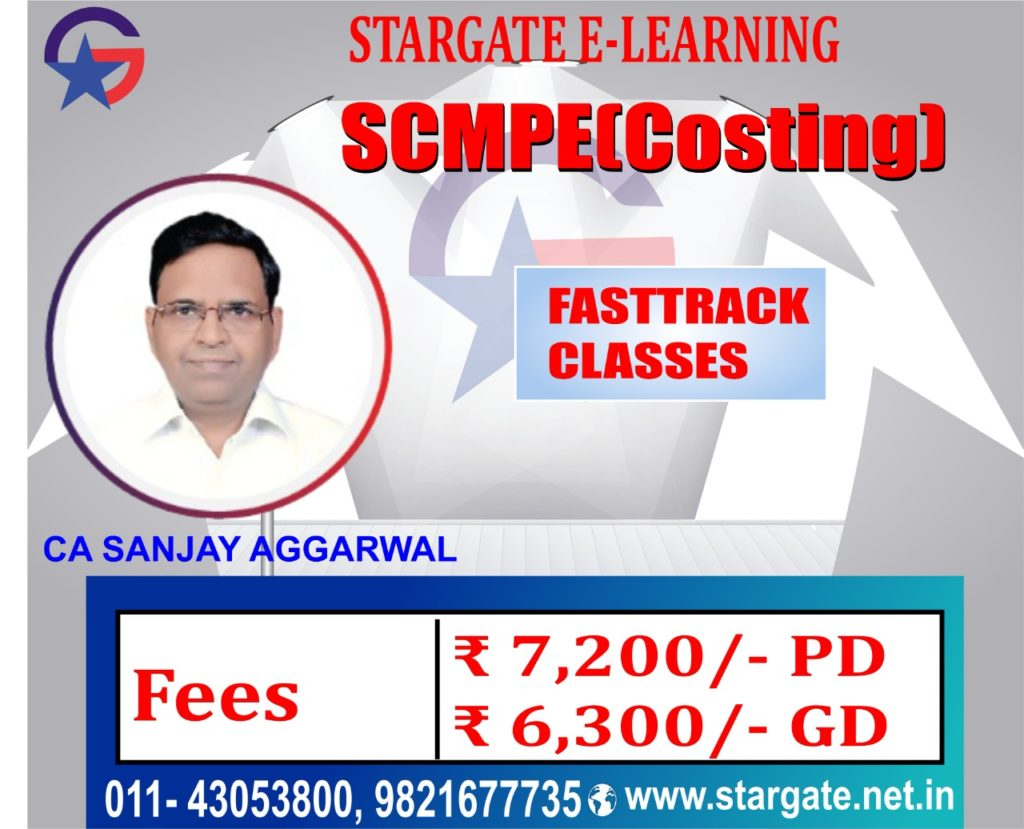 CA Final Costing SCMPE Fasttrack Google Drive & Pen drive Classes by CA Sanjay Aggarwal Sir