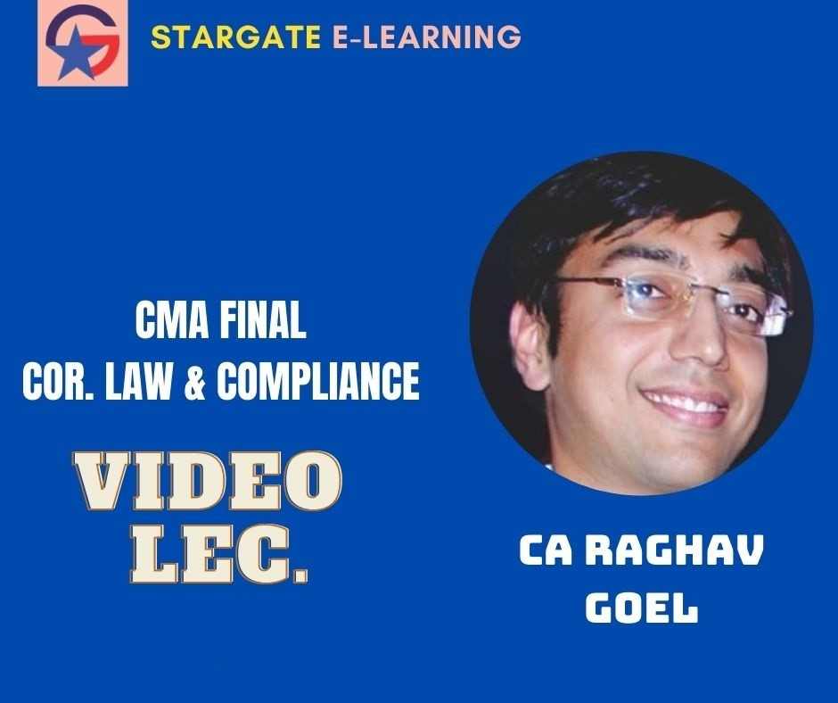 CA Inter Corporate and Other Laws Full Course By CA Raghav Goel Google Drive & Pen Drive