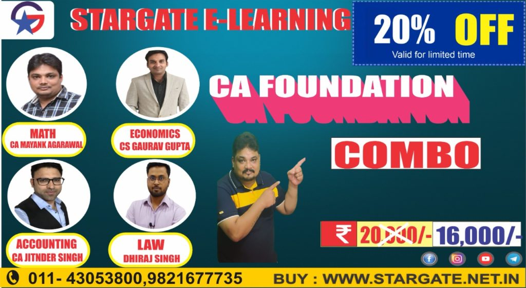 CA FOUNDATION COMBO OFFER