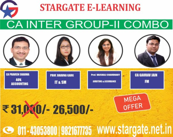 CA INTER GROUP II COMBO (ADV ACCOUNTING, IT & SM, AUDITING & ASSURANCE, FM)