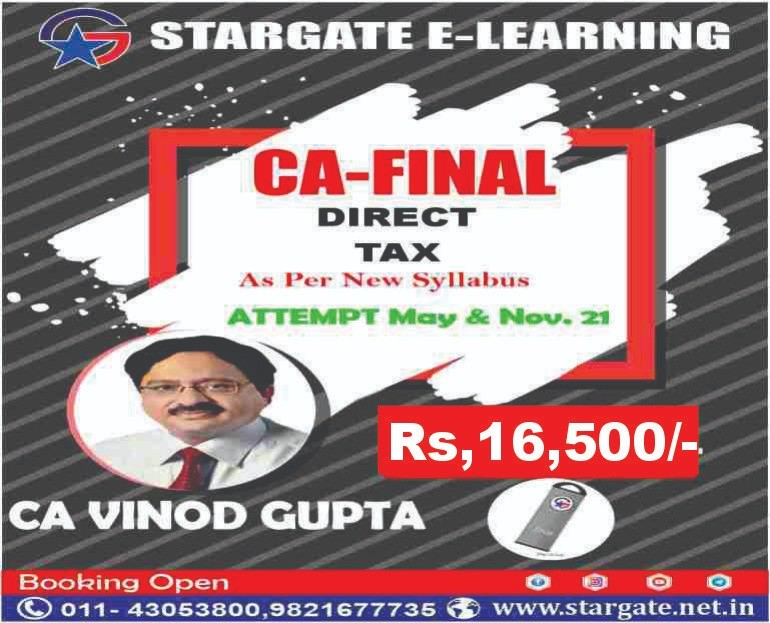 CA FINAL DIRECT TAX PEN DRIVE