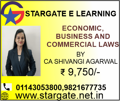 ECONOMIC BUSINESS & COMMERCIAL LAWS BY CA SHIVANGI AGARWAL