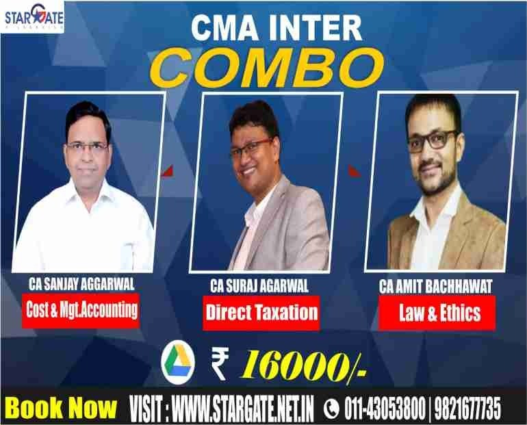 CMA COMBO (COST & MGT. ACCOUNTING, DIRECT TAXATION, LAW & ETHICS)