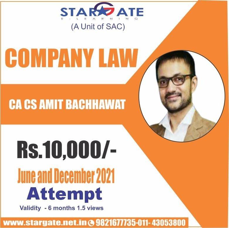 COMPANY LAW BY CA CS AMIT BACCHAWAT
