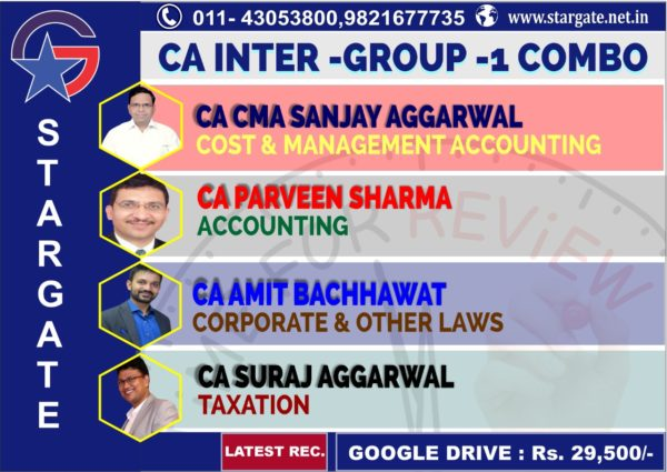 CA INTER GROUP 1 COMBO COST & MANAGEMENT ACCOUNTING, ACCUNTING, CORPORATE & OTHER LAWS & TAXATION