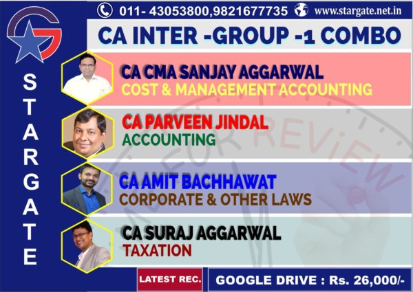 CA INTER GROUP 1 COMBO COST & MANAGEMENT ACCOUNTING , ACCOUNTING, CORPORATE & OTHER LAWS & TAXATION