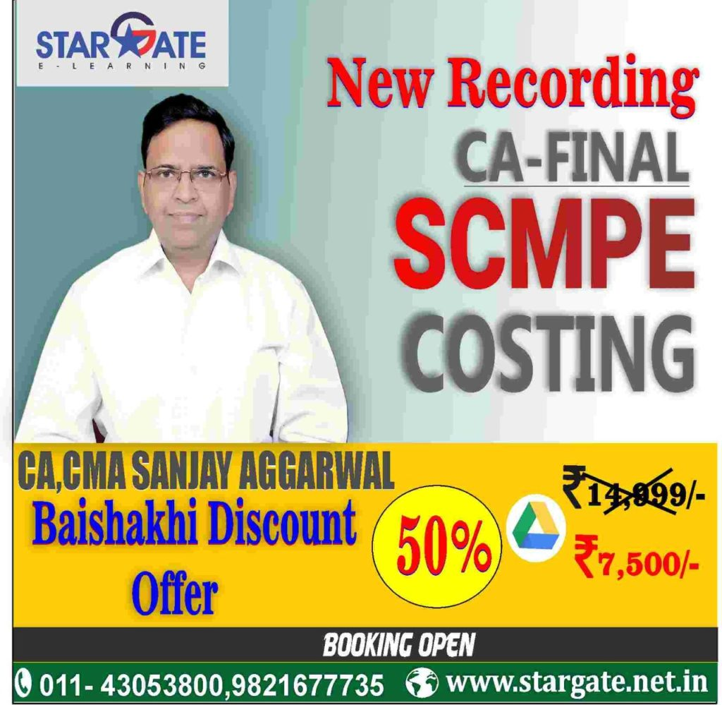 new recording ca final scmpe costing
