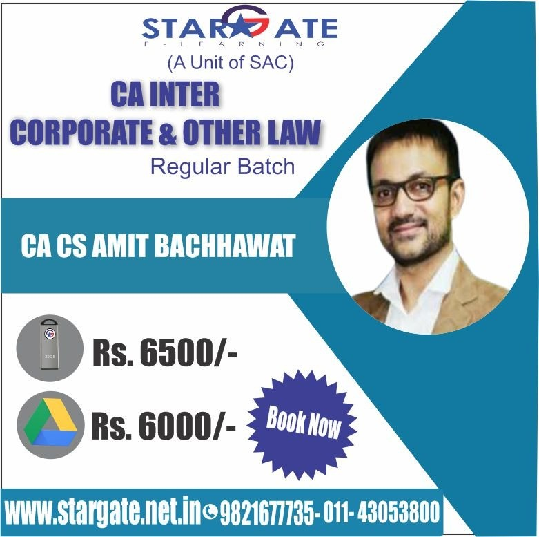 CA INTER CORPORATE & OTHER LAWS REGULAR BATCH