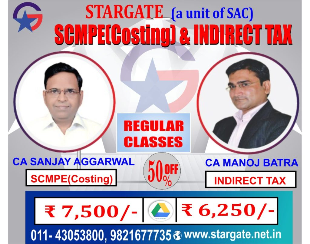 CA FINAL COSTING (SCMPE) & INDIRECT TAX (IDT) GOOGLE DRIVE