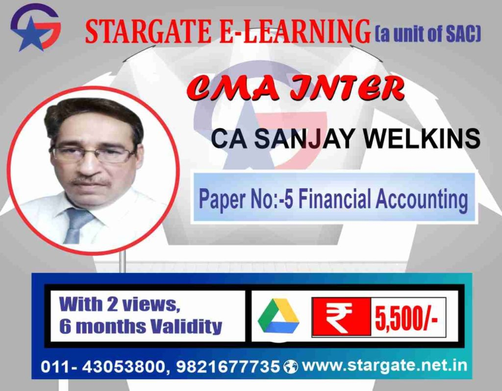 CMA INTER GROUP 1 BY CA SANJAY WELKINS